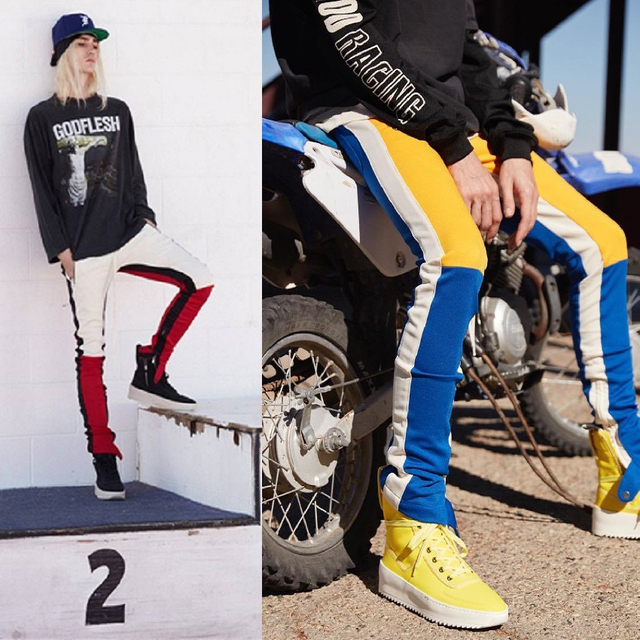 Kuma Stripped Colorblock Joggers 1