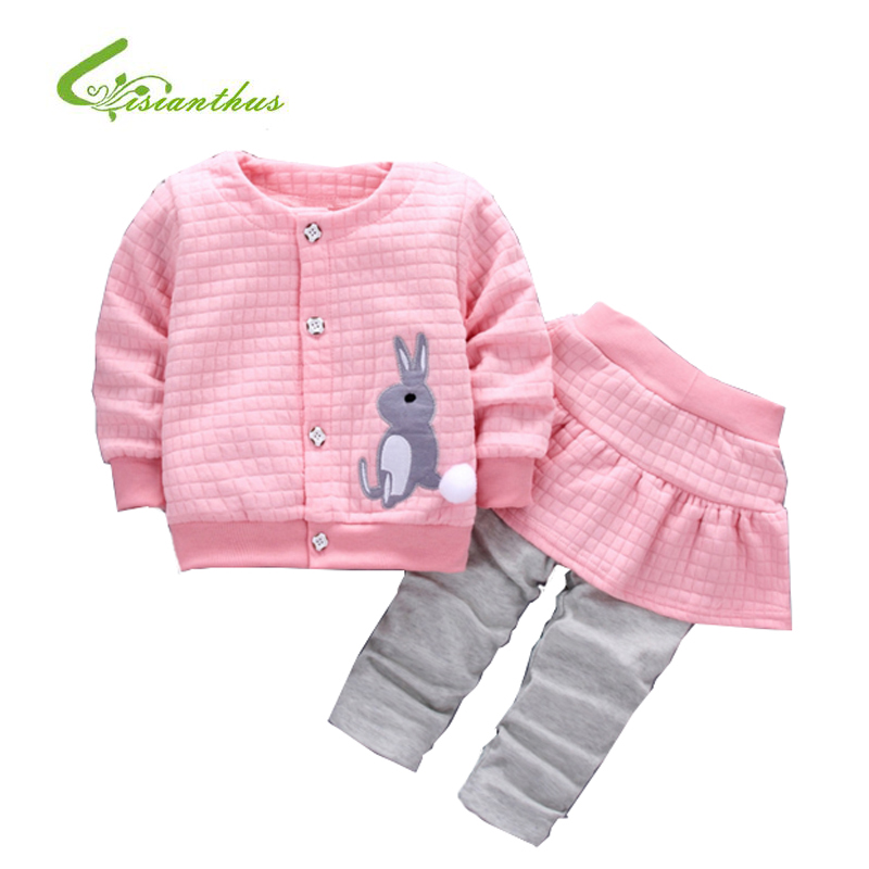 Children Clothes Autumn Winter Kids Girls Clothes Set Cartoon Rabbit Coat+ Legging Pant Outfits Girls Sport Suit Toddler Clothes baby boy girl clothing set toddler clothes autumn cartoon tracksuits kids sport suit set coat pant 2pcs casual cardigan coats