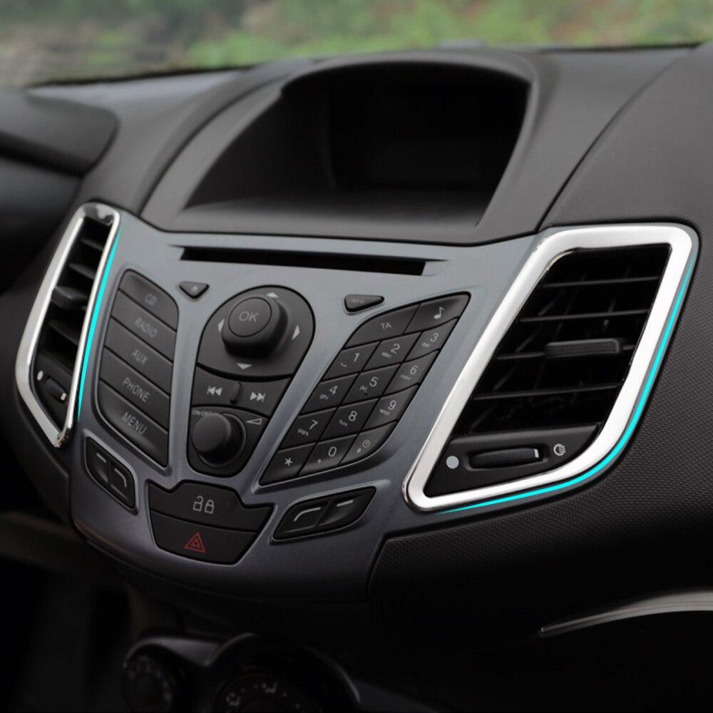 Новый дизайн! Аксессуары для отделки из нержавеющей стали, украшение для салона, 2 шт./компл., для Ford Fiesta 2010-2015
