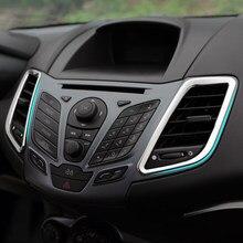 ¡Nuevo diseño! Ajuste accesorios de acero inoxidable salida interior anillo de decoración 2 unids/set para Ford Fiesta 2010-2015