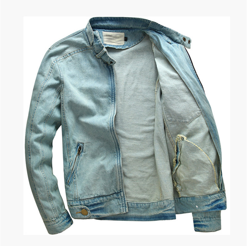 Compare Prices on Mens Slim Fit Jean Jacket- Online Shopping/Buy