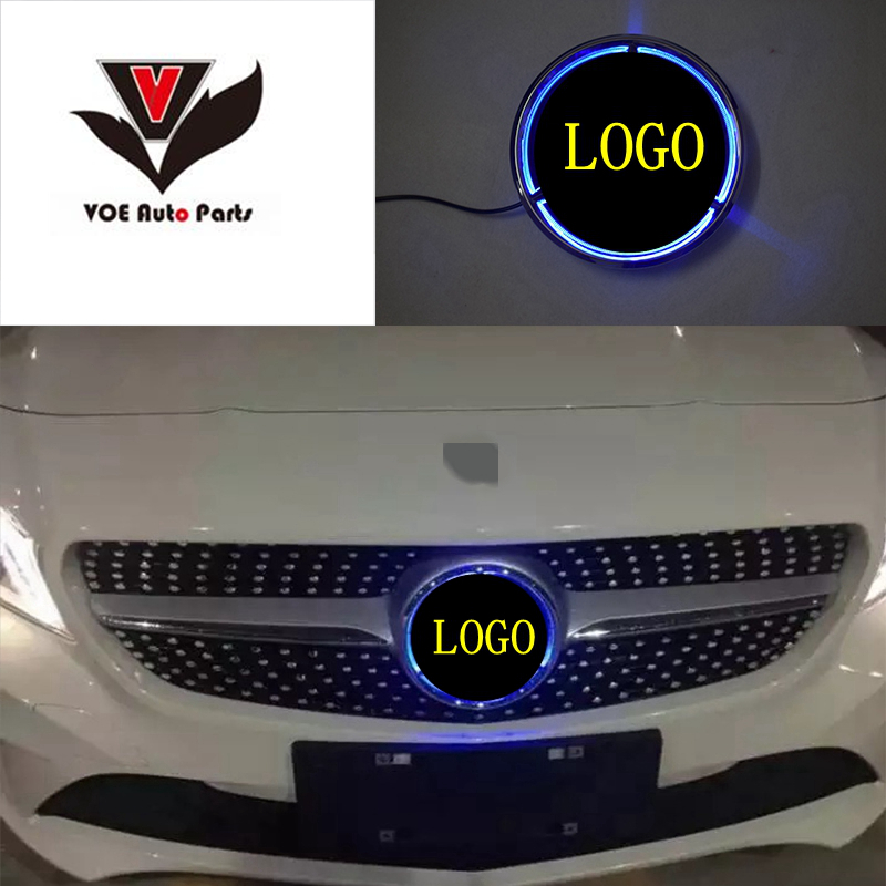 LED Star Illuminated Front Light Logo Car Front Grill Grille Star Emblem Badge for Mercedes-Benz W176 W246 W205 W212 W117 abs decorative led emblem logo light front grille for f ord r anger t7 2016 2017 car styling 4 colors grill lamp