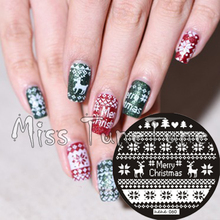 New Stamping Plate hehe 60 Xmas Festival Nordic Reindeer Nail Art Stamp Template Image Transfer Stamp Plate Christmax
