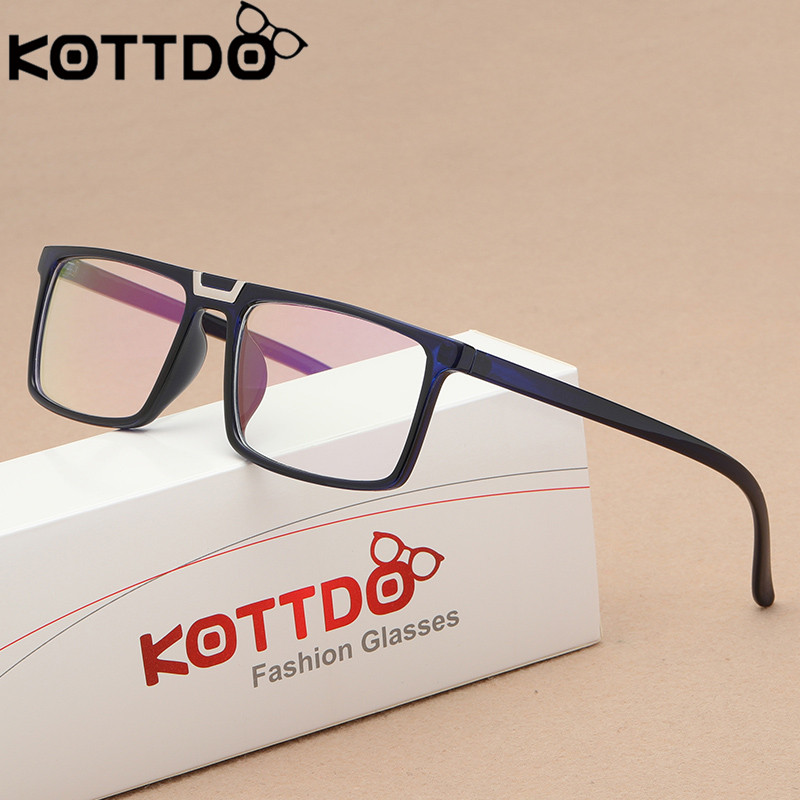 KOTTDO Retro Eyeglasses Men Women Square Glasses Frame Unisex Optical Computer Eye Glasses Frame Oculos De Grau