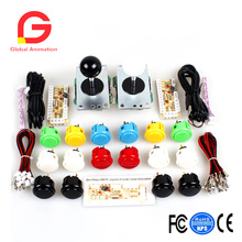 Classic 2 Player OEM Sanwa Arcade Video Games Kit DIY Bundle for PC Joystick Raspberry Pi RetroPie DIY Projects Mame Jamma Parts цена и фото