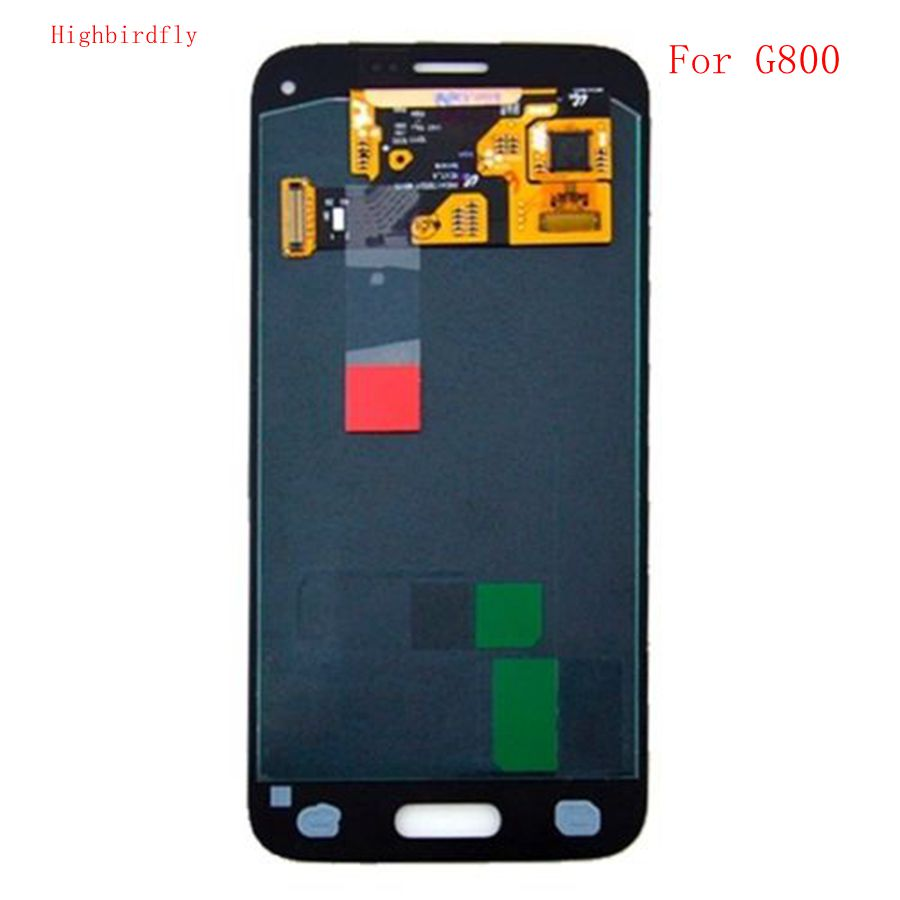Highbirdfly For Samsung Galaxy S5 Mini G800 G800F G800H Lcd Screen+display+Touch Glass Assembly Replacement Amoled