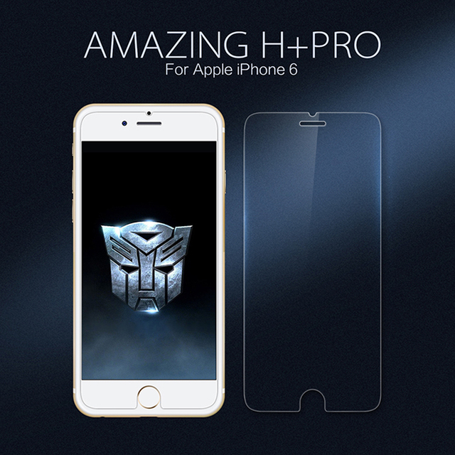 NILLKIN Increíble H + PRO 2.5D 9 H Vidrio Templado Protector de Pantalla Para Apple iphone 6 6 S película Protectora
