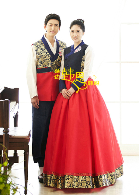 fdeca3654 Korean National Hanbok Dress Custom Made Women Men Hanbok Korean Traditional  Costumes Bride Bridegroom Wedding Party Dress
