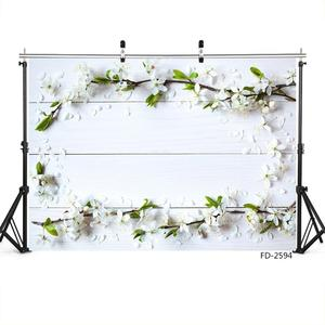 Image 2 - White Wooden Plank Flowers Photographic Backgrounds for Photo Studio Baby Newborn Backdrops for Photo Shootings Goods Cloth Toys