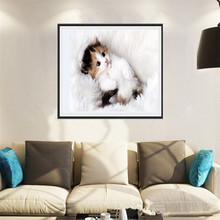 cute cat pictures Mosaic 5D diy diamond painting home decoration diamond embroidery classic style round rhinestone ZS258