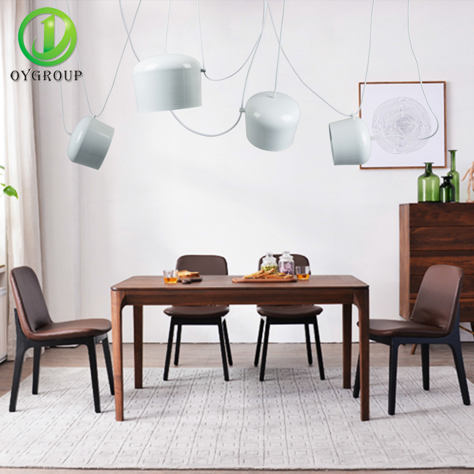 Modern Pendant Lights Black White Iron Lampshade DIY Hanging Lamp E26 E27 Bulb Home Decoration For