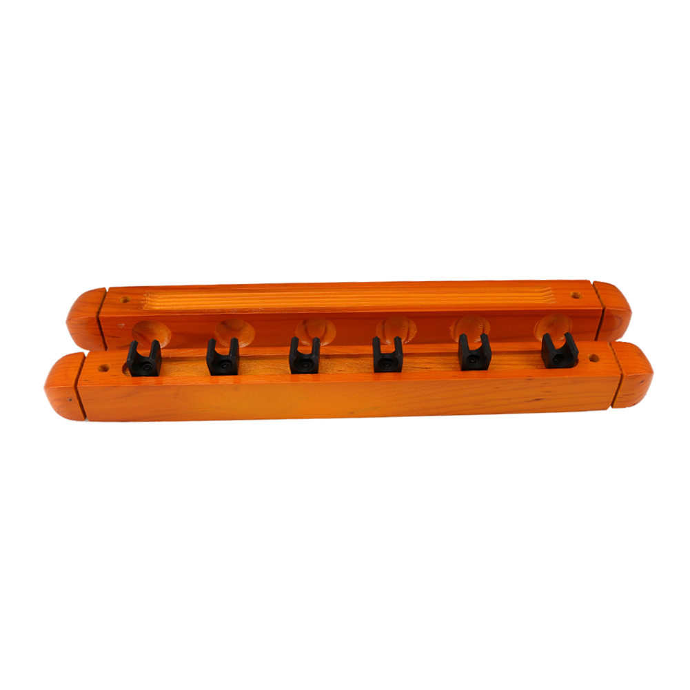 1 Pair Billiard Pool Wall Mount Hanging 6 Cue Sticks Solid Wood Rack Professional and Holder for Snooker Fast Sgipping