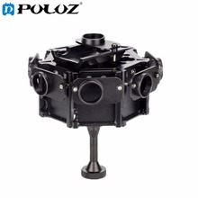 PULUZ 8 in 1 CNC Aluminum Alloy Housing Shell Protective Cage with Screw for GoPro HERO4 /3+(Black)