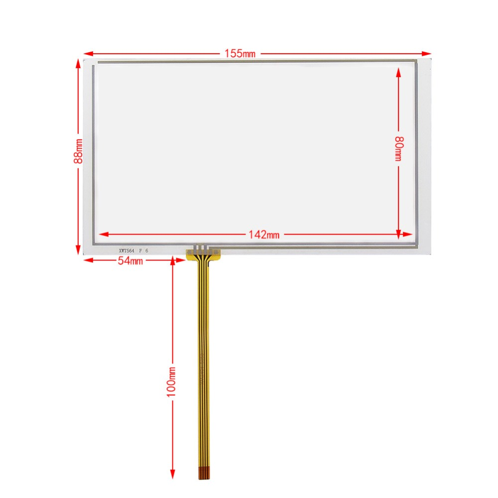 6.2inch For CLARION NX-501 VX-401 NX501 VX401  GPS Digitizer Resistive Touch Screen Car Navigation Touchpad 155*88mm
