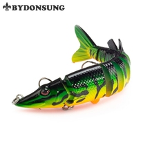 BYDONSUNG 1pcs Synthetic Pike Lure 12.5cm 20g 9 Segement Isca Muskie Fishing Lures Swimbait Plastic Onerous Bait