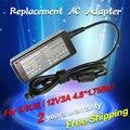 12 v 3a 4.8*1.7mm adaptador ac cargador de batería de repuesto para asus Eee PC 904HA 904HG R33030 904 900HA 900HD 1000HT 1000HV 1000XP