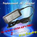 12V 3A 4.8*1.7MM Replacement Battery Charger AC Adapter For Asus Eee PC 904 900HA 900HD 904HA 904HG R33030 1000HT 1000HV 1000XP