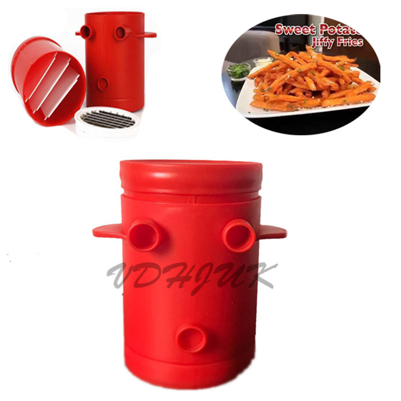 Stocked Jiffy Fries Potatoes Maker Potato Slicers French Cutter Machine Microwave Container 2 In 1 Shredders From