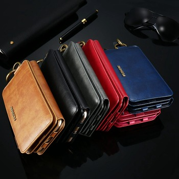 FLOVEME PU Leather Case For iPhone 11 X 8 7 6s 6 Plus Retro Wallet Cover For iPhone XS Max XR X 11 Pro Max Protective Phone Bag 6