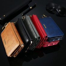 Leather Case For iPhone X 8 7 6s 6 Plus 5 5s SE Retro Wallet Cover