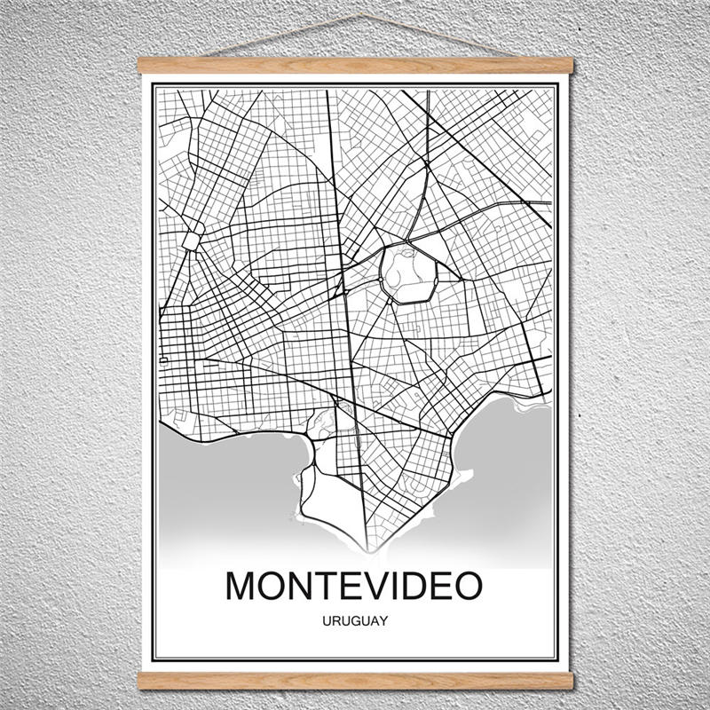 Customized Pattern Modern World map City poster MONTEVIDEO ... on modern china map poster, modern world map decal, modern germany poster, modern space map poster, modern world map print, modern travel poster, modern wall art, modern world map design, modern world map canvas, modern art poster,