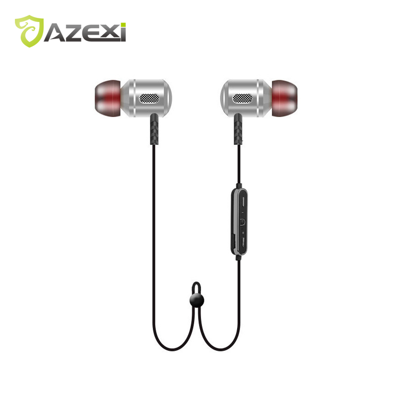 Azexi H8 Bluetooth Earphone All-metal Mini-Head headset Sanding Material design With MIC Sport wireless headphone for iPhone new dacom carkit mini bluetooth headset wireless earphone mic with usb car charger for iphone airpods android huawei smartphone