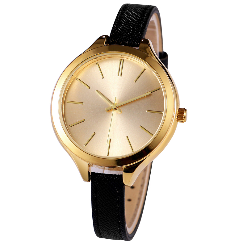 Fashion Japan Quartz Women's Watch With PU Leather Band Glass Dial Ladies Wristwatch Alloy Case Female Watches Waterproof rigardu fashion female wrist watch lovers gift leather band alloy case wristwatch women lady quartz watch relogio feminino 25