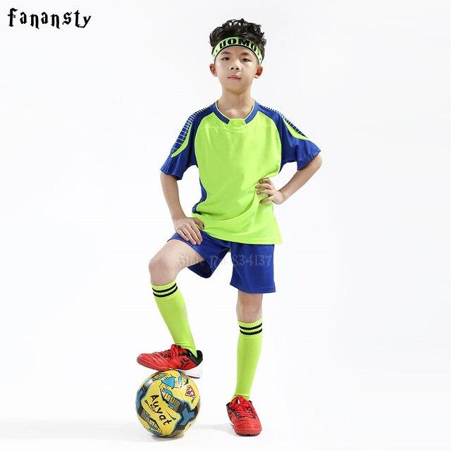 5c7560696 Cheap football uniforms college football jerseys kids custom boys soccer  jersey children quick dry voetbal tenue kids 2017
