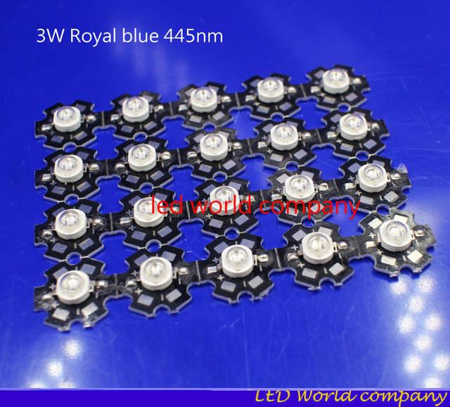 1W 3W Royal Blue Blue lce blue High Power LED 445nm 460nm light-emitting diode