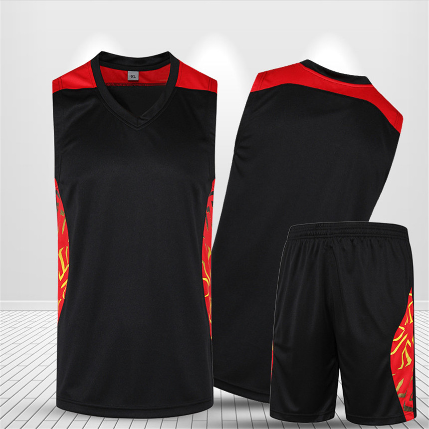 font b Men b font Basketball Jersey Sets Uniforms kits Adult Sports clothing Breathable Quick