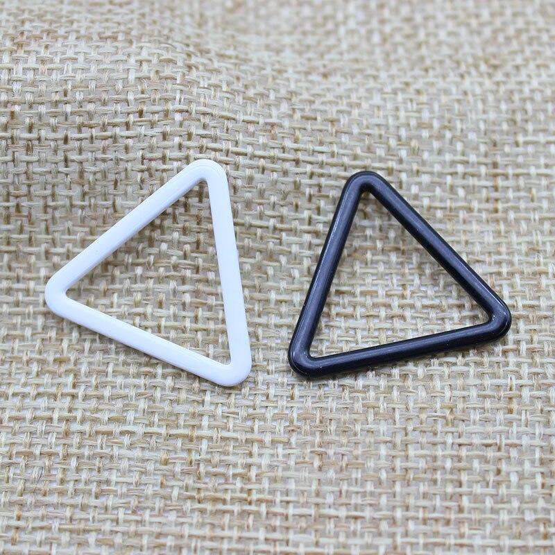 Bra material PP metal bra strap hooks Nylon Coated Lingerie Triangle shape 10mm/12mm/15mm