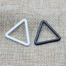 Bra material PP metal bra strap hooks Nylon Coated Lingerie Triangle shape 10mm/12mm/15mm