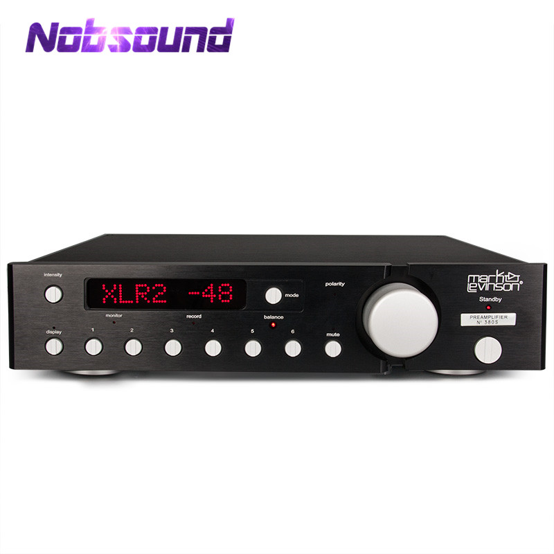 Nobsound Luxury Fully Balanced Pre-amp HIFI Preamplifier XLR Input Remote Control LED Refer to ML380s