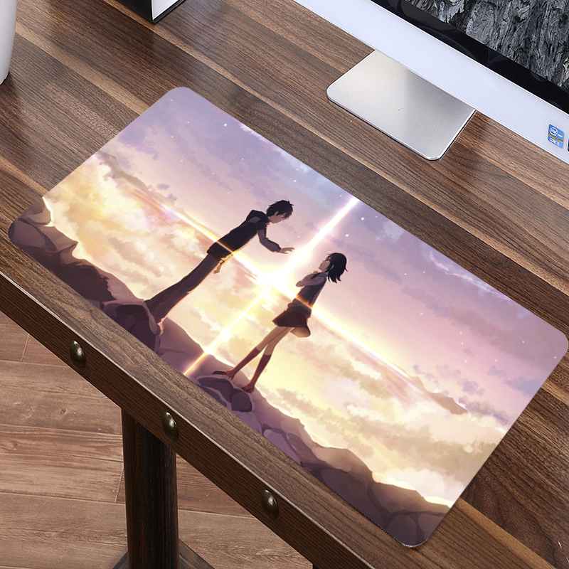 SIANCS Japan <font><b>sexy</b></font> <font><b>Anime</b></font> Otaku notbook XL mousepad mat 70x30cm large your name <font><b>mouse</b></font> <font><b>pad</b></font> large gaming best seller PC desk <font><b>pad</b></font> image