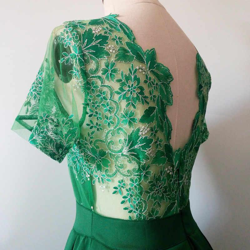 BornToGirl, женское сексуальное кружевное платье с открытой спиной, лето-осень, женское черное, синее, зеленое, красное платье, robe femme ete 2019