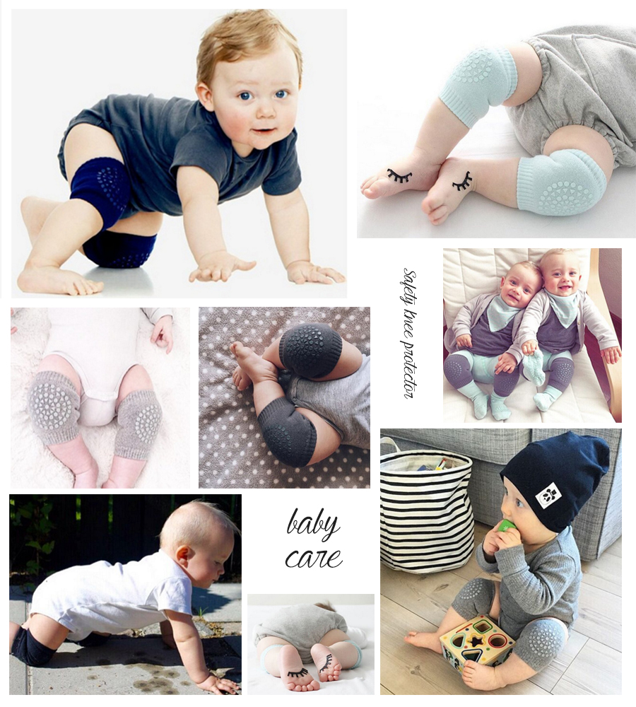 2017 New Baby Knee Pads Crawling Protector Cotton Kids Kneecaps Children Cartoon Anti Slip Grils Boys Leg Warmers 6-24M ...