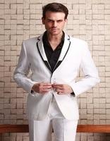 2018 neue Ankunft Heißer Verkauf Weiß Bräutigam Smoking Slim Mann Revers Männer Anzug Mode Beste Männer Formale Dünne Klage (jacke + Pants)
