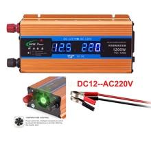 Professional 1200W Car inverter 12 V 220 Voltage Converter 12v to 220v Charger Volts display CY892
