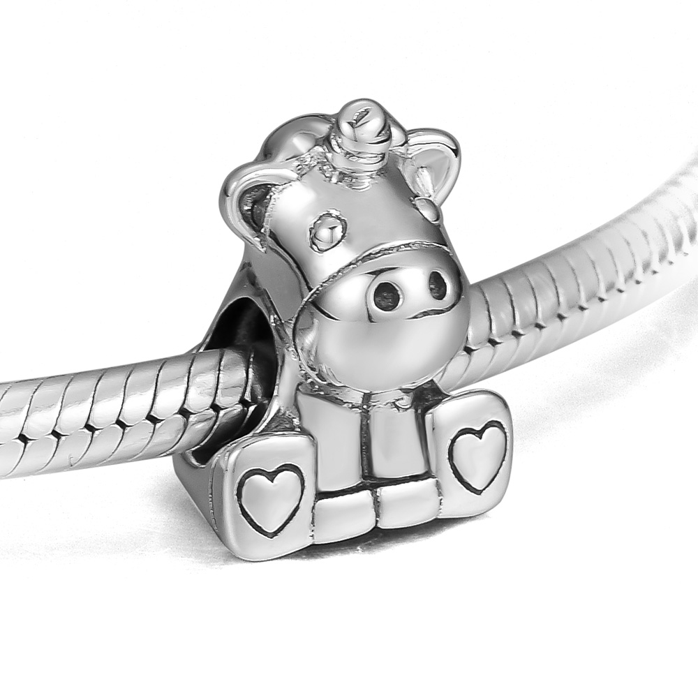 Beads for Jewelry Making 100% 925 Sterling Silver Bruno the Unicorn Charm Fit Bracelets Diy Fine Jewelry PF817Beads for Jewelry Making 100% 925 Sterling Silver Bruno the Unicorn Charm Fit Bracelets Diy Fine Jewelry PF817