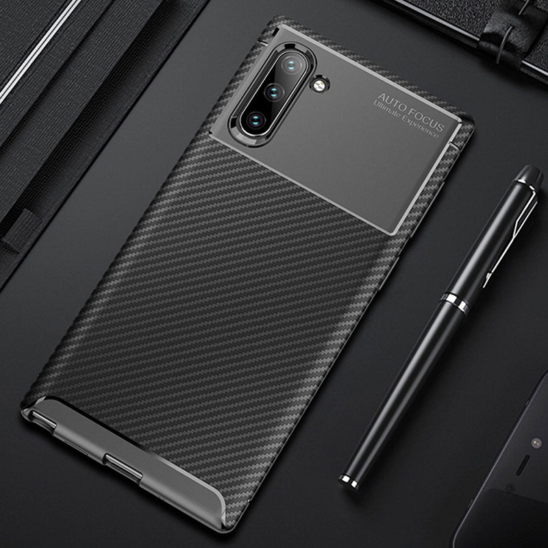 Raugee Case For Samsung Galaxy Note 10 Note 10 Pro Case Luxury Carbon Fiber Bumper Phone Case Cover For Samsung Note 10 9 Coque
