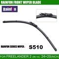 """Rainfun s510 24 """"+ 20"""" hoja de limpiaparabrisas ajuste para freelander 2/lr 2 (06-14), FRONTAL de ALTA CALIDAD CUCHILLA de limpieza, 2 UNIDS Mucho"""
