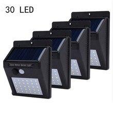 4pcs Solar Light 30 LED Solar Powered Lamp Outdoor Motion Sensor Solar Lamp Garden Decoration Energy Saving Path Emergency Light все цены