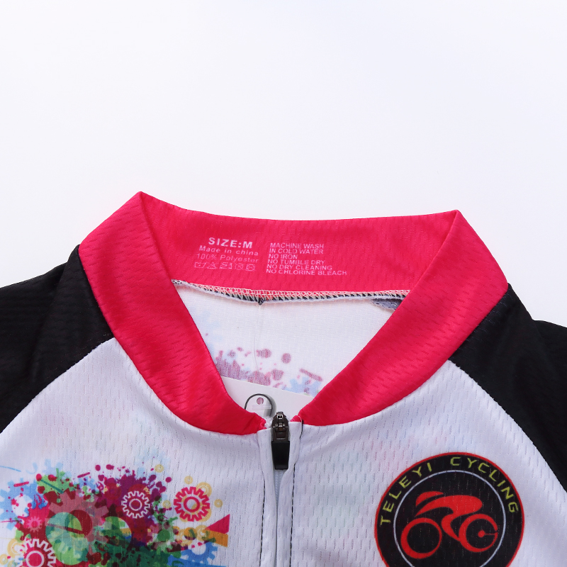 Yarış Kesim Kadın Bisiklet Forması Setleri Polyester Sürme - Bisiklet Sürmek - Fotoğraf 5