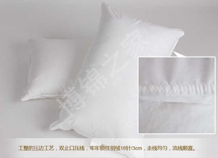 Детская подушка 14*24 дюйма, белая заполненная 13 унций, наполненная мощностью 800 кг, 90/10 белый гусиный пух, бесплатная доставка, мягкая