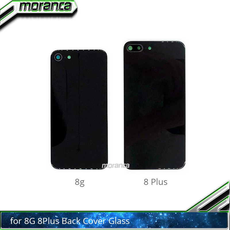 High Quality Back Housing Glass for iPhone 8 8G 8Plus Plus Battery Cover Tempered Glass with Camera Lens Repair Parts