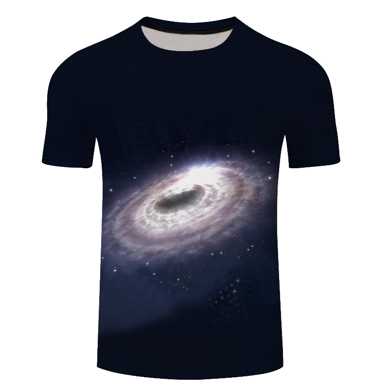 3D Tshirts Men Clothes 2018 Space Planet Print O-neck Short Sleeve Tee Top Summer T-shirt Fashion Plus Size 6XL