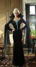 Europa y América Disfraces de Halloween Vampiro cosplay manga completo negro papel mal bruja jugando disfraces de halloween para las mujeres