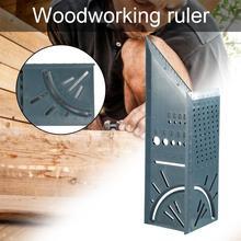 Holzbearbeitung 3D Gehrung Winkel Messen Werkzeuge Mess Platz Größe Messen Werkzeug mit Messer Lineal für Bauherren, Schreiner, Craftsm