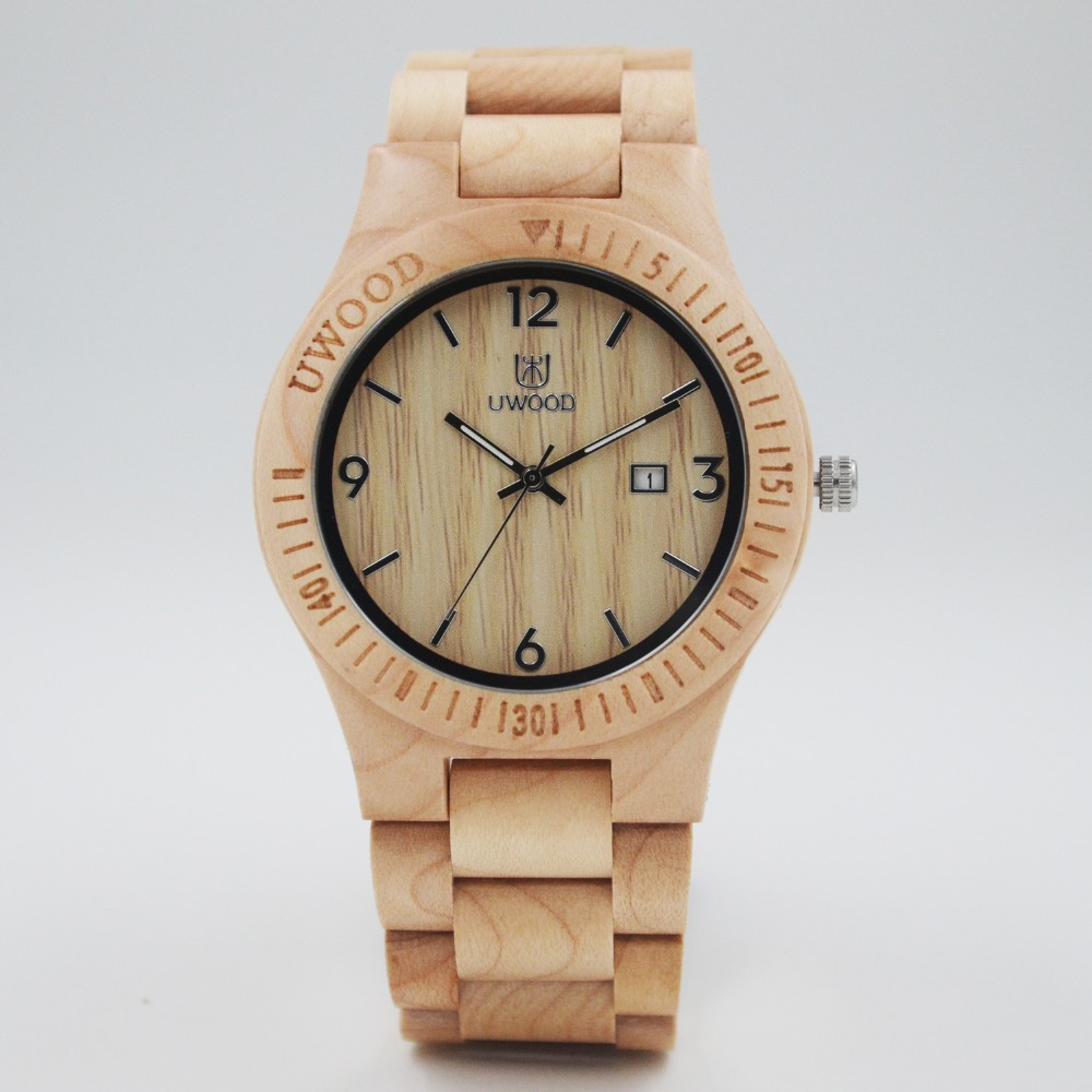 Подробнее о Dress Quartz  wood watch Men Dual Time Mens watches 2016 top luxury brand UWOOD Wristwatch Relogio Masculino Water Resistant 2016 hot sell men dress watch uwood men s wooden wristwatch quartz wood watch men natural wood watches for men women best gifts