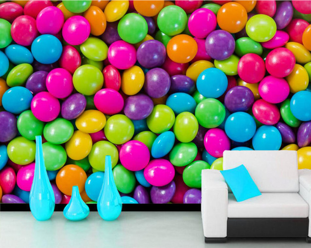 Texture Candy Many Food Photo 3d Wallpaper Mural Papel De Parede For